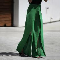 Fashion Street Shot Fashion Open-Fork Design Pants