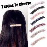 1PC Fashion Crystal Rhinestone Hair Clips Bling Korea Style Fashion Girls Hair Pins Metal Barrettes Hair Styling Accessories