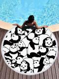 Super Fine Fiber Panda Printed Beach Mats