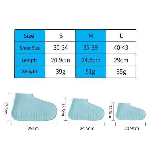 Waterproof Shoe Covers Cycling Rain Reusable Overshoes Silicone Latex Elastic Shoe Covers Protect Shoes Accessories Dust Covers