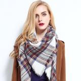 2020 Plaid Winter Scarf Women Warm Foulard Solid Scarves Fashion Blanket Luxury Brand Shawls Cashmere Bufandas Hombre
