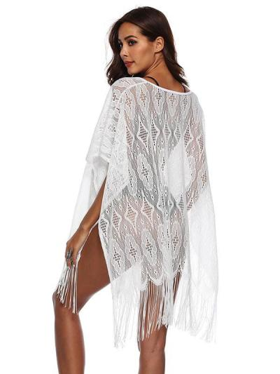 Lace Loose Hollow Tassels Cover-Ups