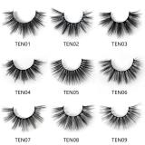 Bling bling Synthetic False Eyelashes 10 Pairs with different style