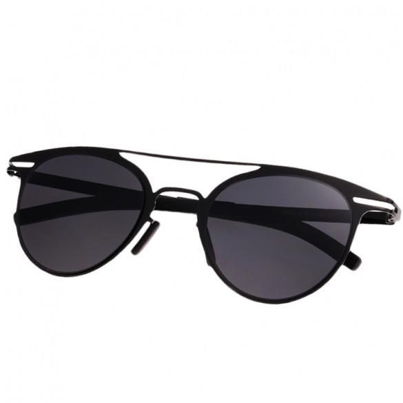 Women's Retro Style Metal Frame Big Round Lens Shades Sunglasses