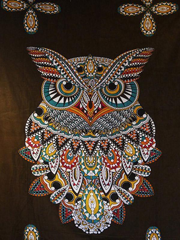 Vintage Owl Pattern Blanket Beach Mat Yoga Mat