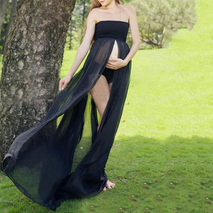 Maternity Off Shoulder Maxi Dress