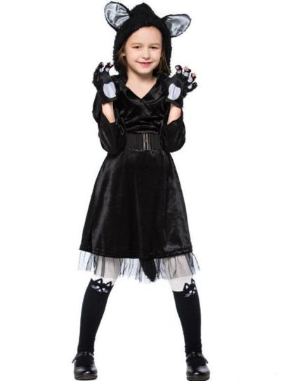 Black Cat Skirt Cute Black Cat Animal Role Play
