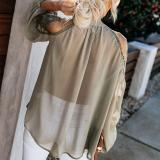 New Solid Color Large Size Loose Blouses
