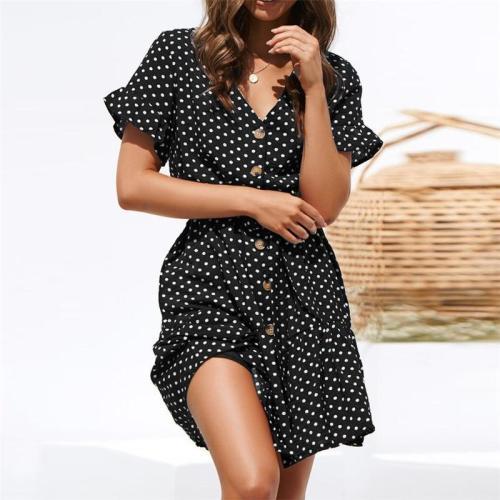 White Chiffon Dot Maternity Dress Summer Wear 2020 New Fashion Bohemia Premama Sexy Dress For Pregnant Women Pregnancy Clothing