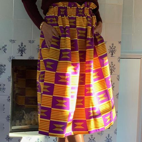Casual print check skirt RY58