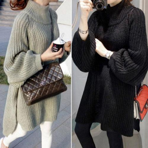New Loose Knit Long Sweater