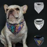 Colorful Fashion Pet Cats Dogs Reflective Bandana Bibs Scarf Collar Night Safety Dogs Scarf Saliva Towel For Small Medium Dogs