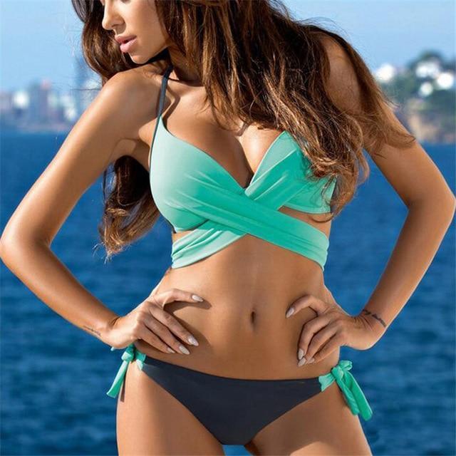 Swim Beach Cross Bikini Set