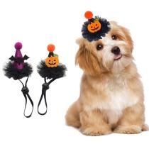 Cute Hat Pet Halloween Party Dog Headpiece Cat Costume Cap With Adjustable Strap Cosplay Headwear For Pet Cat Dog Accessories
