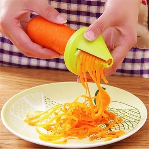 Kitchen Tools Vegetable Fruit  Multi-function Spiral Shredder Peeler Manual Potato Carrot Radish Rotating Shredder Grater