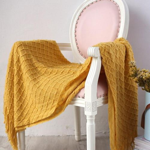 Super Soft Cashmere-Like Plaid Home Decoration Nordic Style Casual Knitted Blanket with Tassel Blankets for Beds Sofa Cover koc