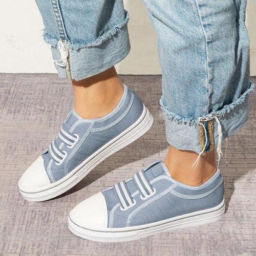 EBUYTIDE Simple Canvas Slip On Casual Women Sneakers