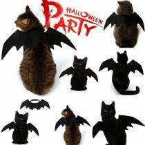 2020 New Halloween Pet Dog Costumes Clothing Black Bat Wings Pet Gift Dress Vampire Black Cute Fancy Halloween Pet Costumes