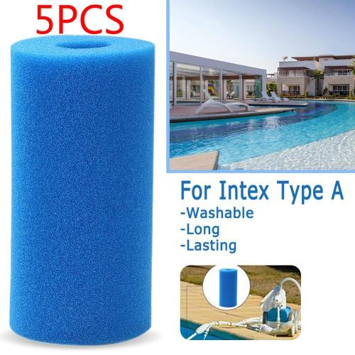 5PCS Swimming Pool Filter Sponge Intex fIlter Type A Pool Foam Filter Reusable Washable Swimming Pool Cleaner Pool Accessories