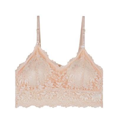 2020 New Arrival Women Push Up Wireless Lace Bra Top Women Plus Size Bralette Lingerie Full Cup Underwear