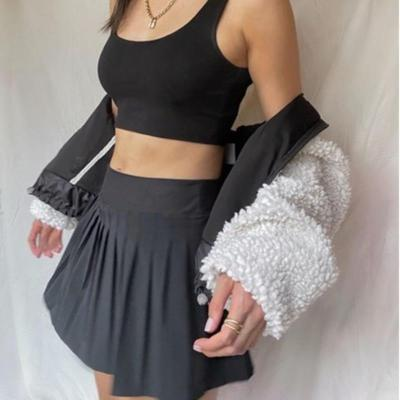 Women White Skirts Tenny Skirt A-line High Waist Mini Tennis Skort Ruffle Casual Skirt Womens Summer Overall Skirt Mujer Faldas