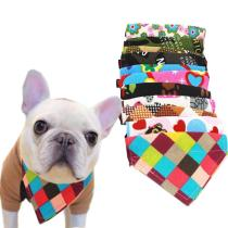 XS-XL Dog Cat Bandana Adjustable Pet Dog Cat Neck Scarf Tie Bowtie Necktie Bandana Collar Neckerchief Dog Accessories 40JA24