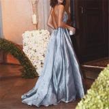 Deep V Strapless Backless Sexy Dress