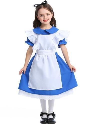 Halloween Princess Dress Alice Wonderland Maid Outfit