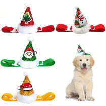 New Year Cute Pet Cosplay Clothes Costume Elastic Glitter Pet Hat Cat large Dog Christmas Party Decoration Pet Apparel