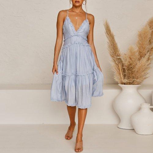 Fashionable thin belt dress skirt summer fashion