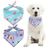 Pet Dog Cotton Bandana Scarf England Style Triangle Bibs For Small Medium Dogs Cute Printed  Adjustable Triangle Collar Scarf