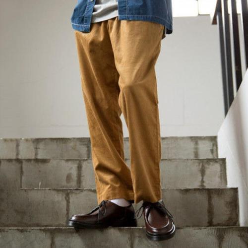Fashion Men's Pure Colour Corduroy Pants