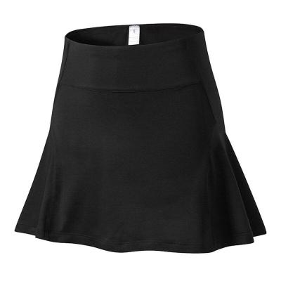 Women's High Waist Sports Skirt Yoga Tennis Skirt Casual Loose Lining Running Quick-drying Female Solid Black Streetwear Skirt