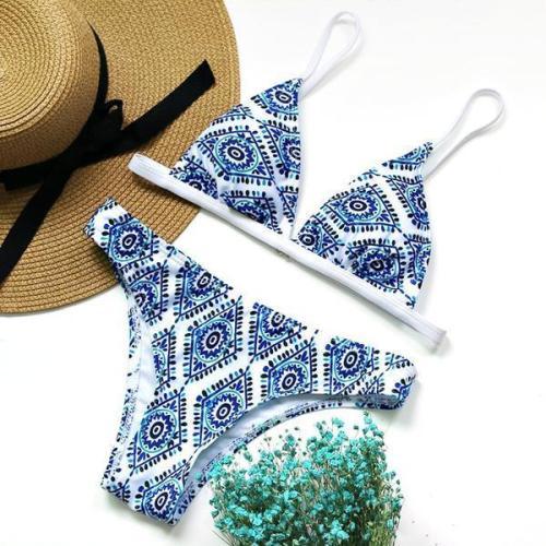 Boho Style Retro Bikini Set