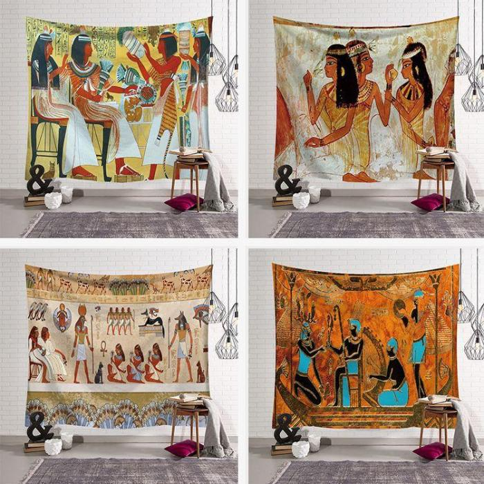 Modern Tapestries Home Decoration Wall Blankets Beach Towels Ancient Egypt Series Background Cloth Digital Printing Tapestry