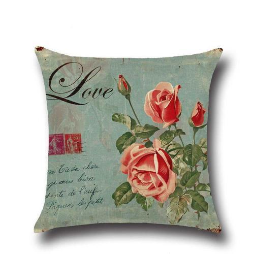 Linen Pillowcase Floral