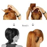 Women Hair Styling Clip Fluffy Stick Bun Plastic Maker Braid Tool Ponytail Holder Hair Combs Hair Accessories