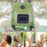 Camping Shower Water Bag Outdoor Hiking Solar Heating 20L Bag Travel Camping Shower Hydration Bag Hose Switchable Shower Head