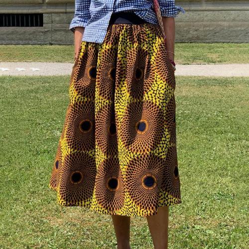 Casual holiday print skirt RY58