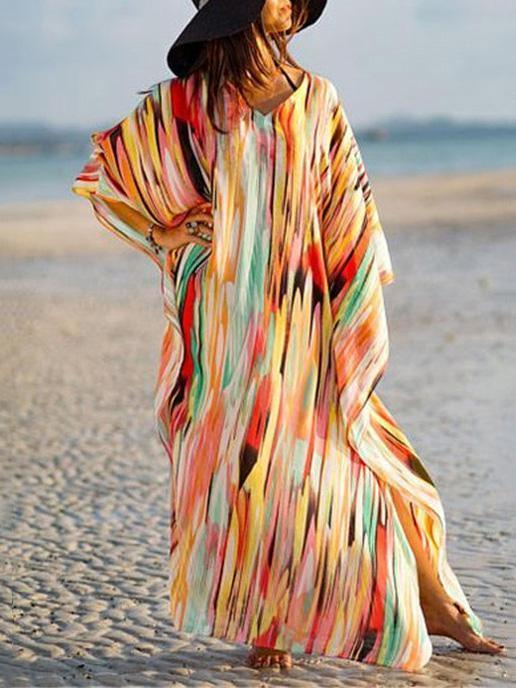Loose Plus Size Colorful Cover-up Swimwear