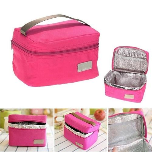 Picnin Bag Portable Insulated Thermal Food Picnic Portable Bag Camping Sport Travel Women Kids Men Solid Lunch Box 2020