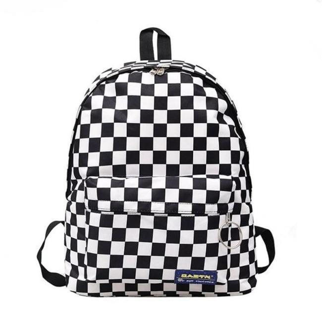 2020 Hot Sale Women Men Unisex Lattice Backpack New Trend checkerboard Teenager School Bag Couples Back Pack Travel Bag