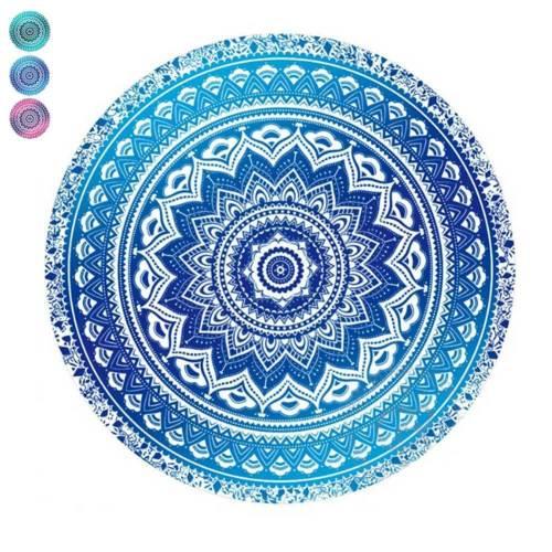 Mandala Round Tapestry Summer Beach Picnic Throw Rug Blanket Bohemia Mats