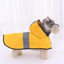 Dog Clothes Teddy Rain Coat Waterproof Poncho Cape Large Pet Yellow Raincoat Grey Reflective Stripe Clothes Jacket Medium Large