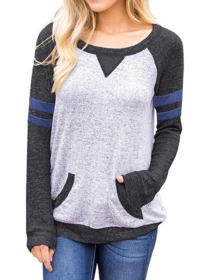 Contrast Stripes Sweatshirt