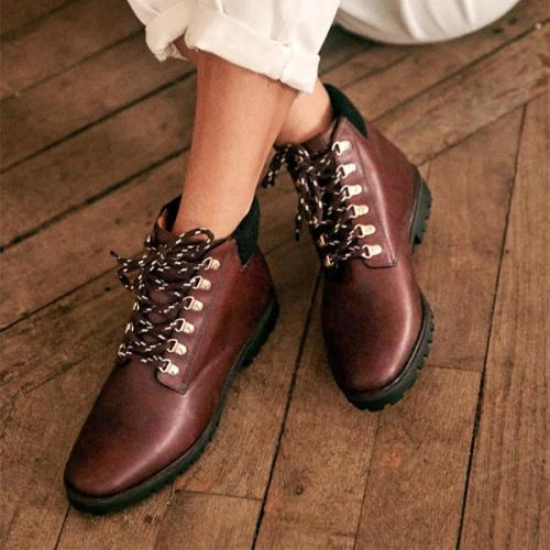 Casual warm suede low heel women boots