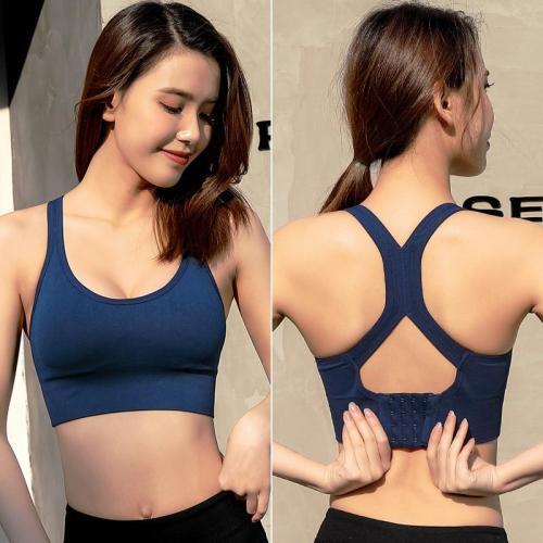 EBUYTIDE Women Tops Sport Bra Yoga Fitness Vests Women Shockproof Sexy Beauty Back Sports Bras Breathable Shockproof Running Sportswear B