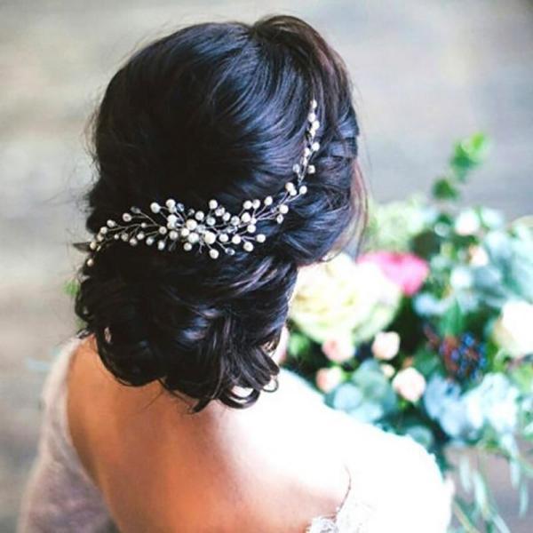 Bride Wedding Hair Clip Handmade Flowers Beads Pearl Decoration Ladies Hairs Accessories Fashion Korean Women Hair Comb