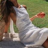 Sleeveless Halter Halter Lace Fashion Swing Dress