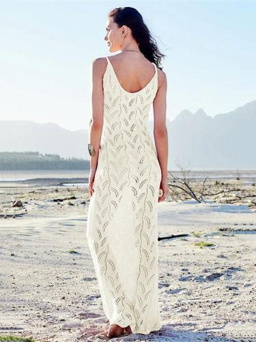 Hollow Knitted Beach Maxi Dresses